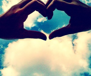 heart, sky, and kalei's image