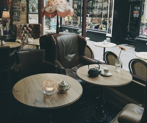 cafe, vintage, and coffee image