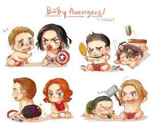 Avengers, thor, and iron man image