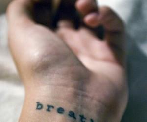 tattoo, breathe, and hand image