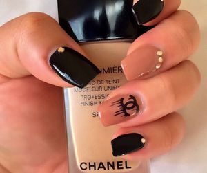 black, cosmetics, and chanel image