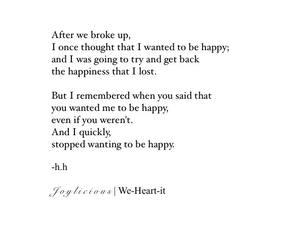 break up, quotes, and happiness image