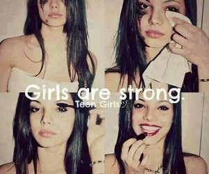 girl, strong, and smile image