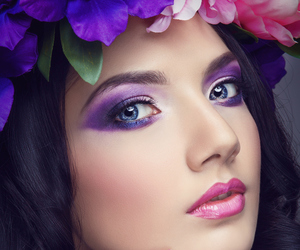 beauty, purple, and pink image
