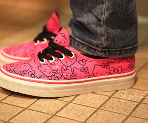 hello kitty, shoes, and pink image