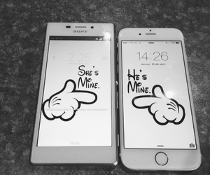 phone, love, and couple image