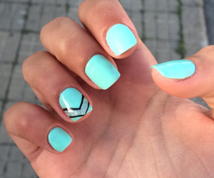 blue, nails, and tumblr image