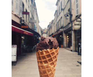 city, france, and ice cream image