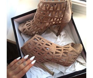 shoes, fashion, and nails image