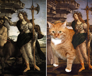 art, beautiful, and cat image