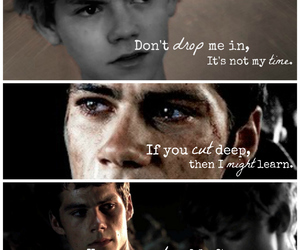 Lyrics, dylan o'brien, and newt image