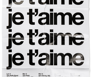 je t'aime, I Love You, and words image