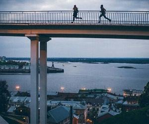 run and city image