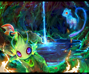 celebi, pokemon, and mew image