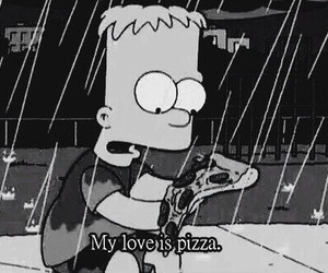 funny, thesimpsons, and pizza image