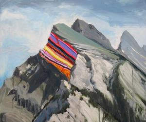 art, mountains, and tumblr image