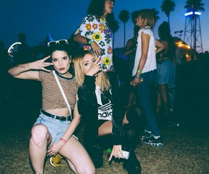 halsey, grunge, and party image