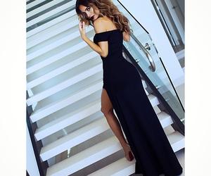 black dress and long dress image