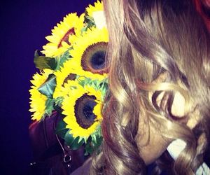 ariana grande, sunflower, and flowers image