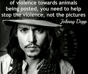animals, johnny depp, and peace image