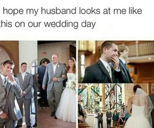 cute, husband, and wedding image