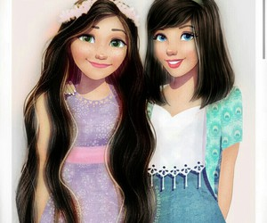 bff, brunettes, and cinderella image