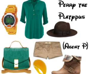 disney, fashion, and perry the platypus image
