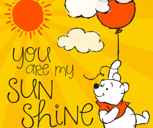 disney, you are my sunshine, and winnie the pooh image