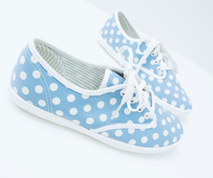 shoes, fashion, and polka dots image