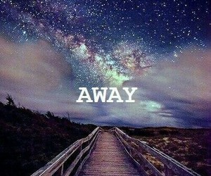 away, stars, and sky image