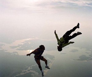 best friends, fun times, and skydiving image