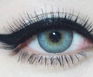 beautiful, eyelashes, and blue image