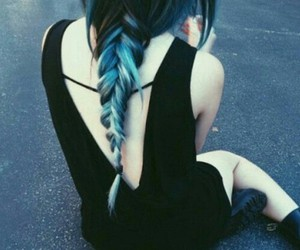 blue, hair, and woman image