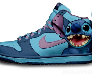 stitch, nike, and shoes image