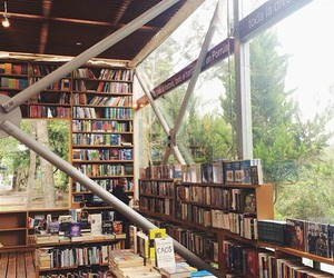 books, bookstore, and happy place image