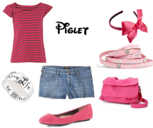 disney, fashion, and piglet image