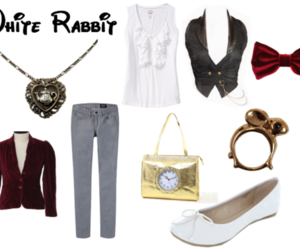 alice in wonderland and white rabbit image