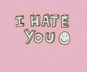 hate, i, and pink image