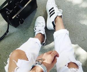 adidas, asia, and Blanc image