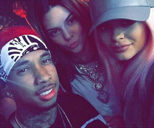 tyga, kylie jenner, and kendall jenner image