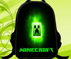 backpack, custom, and minecraft image
