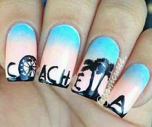 nails, coachella, and nail art image