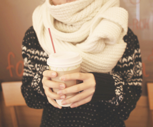 fashion, winter, and coffee image