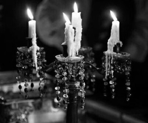 bw, candles, and candlestick image
