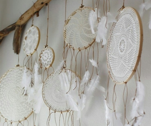 white, Dream, and dreamcatcher image