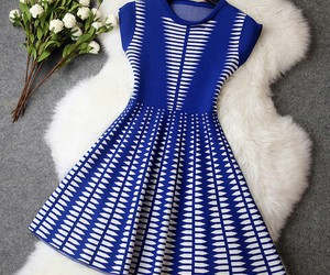 blue, dress, and white image