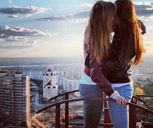 kiss, love, and lesbian image