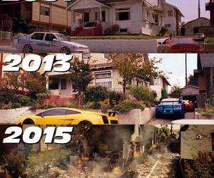 2001, fast & furious, and 2015 image