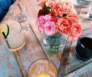 flowers, drink, and indie image