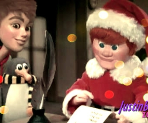 santa claus, justin bieber, and comin' to town image